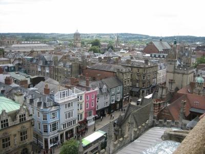 Вид на Оксфорд с высоты