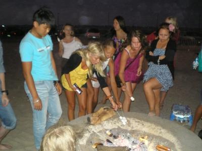 пикник на пляже Хантингтон