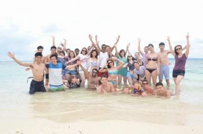 Со школьными друзьями на море