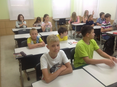 На уроке английского